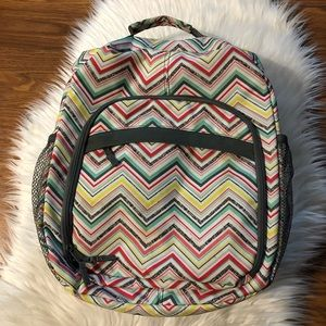 Thirty One Camera Diaper Bag Backpack Chevron Pink